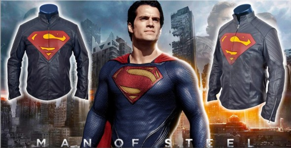 Man of Steel Superman Blue Leather Jacket | CelebsOutfit Blog